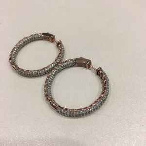 Jewelry - Gold + Crystal Earrings